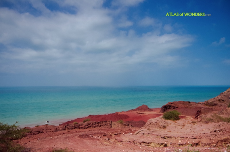 Hormuz Island Red coast