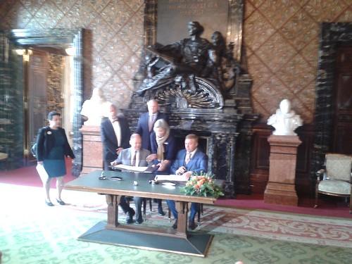Senatsempfang mit den Bürgermeistern aus Kaliningrad und Hamburg