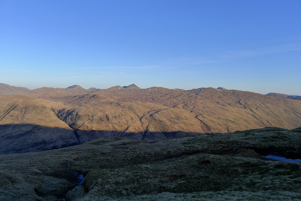 Arrochar hills from Beinn Chas