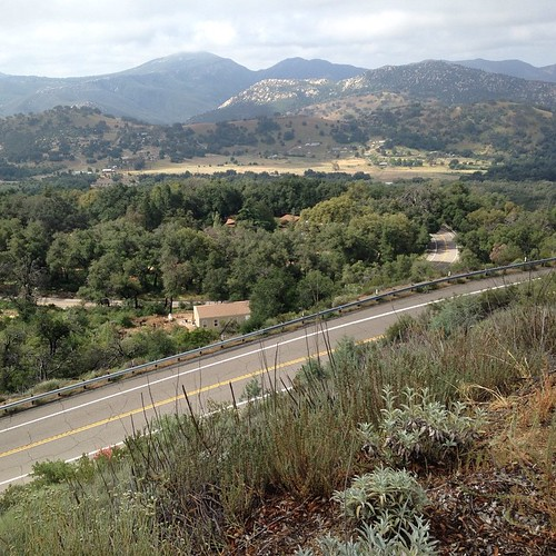 On the way up looking down. Palomar.
