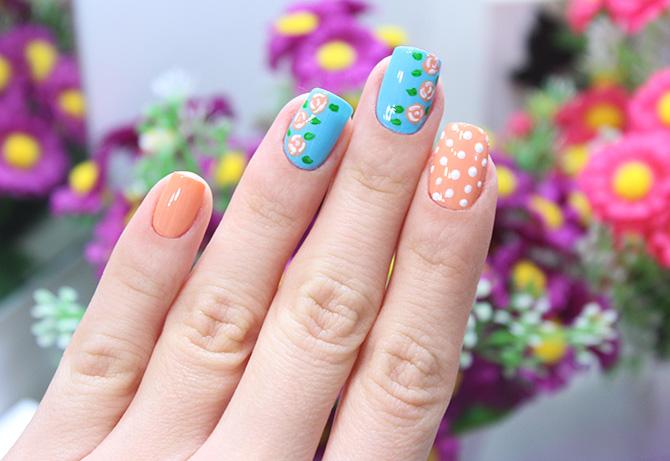 2-unhas decoradas com rosas coloridas jana taffarel blog sempre glamour