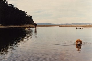 Canoeing at Kingston, with Fifer fishing, May 1989