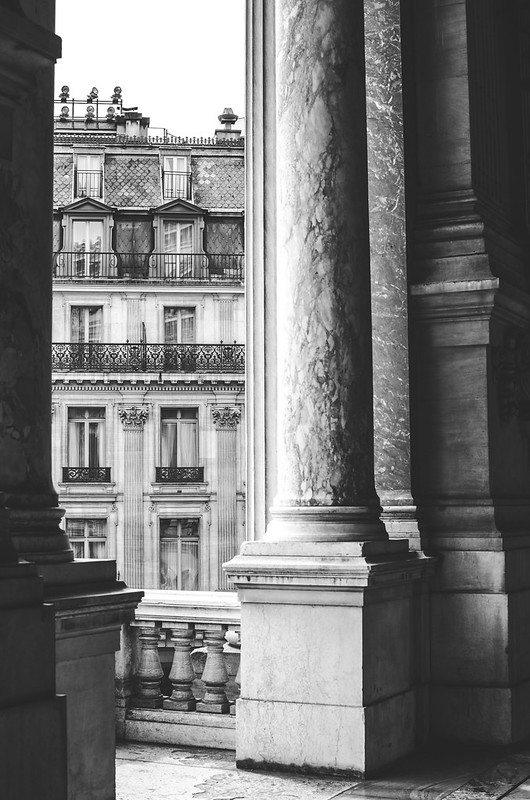 Parisian architecture, from the balcony of the Opera Garnier.