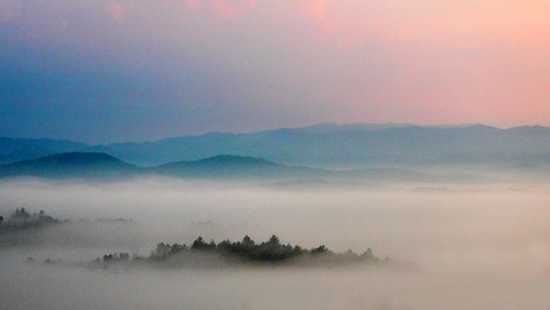 cloud mountain mountains fog dawn appalachian blueridge
