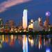 Dallas Skyline at Dusk with Reflection by SteveMasker