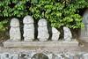 Five Ojizos in a Row