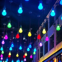 Lights on, off Carnaby St.