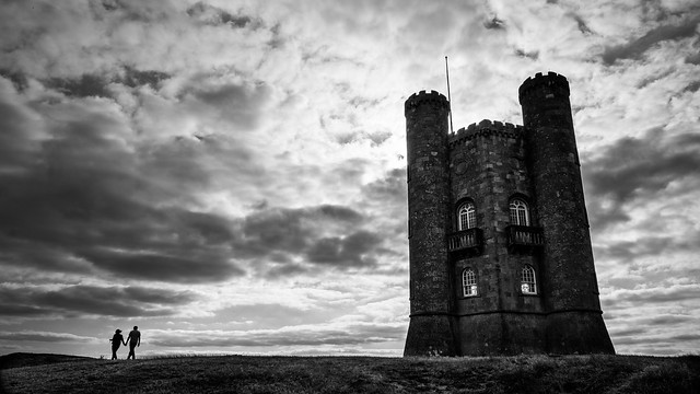 The Broadway tower - Broadway, United Kingdom - Black and white street photography