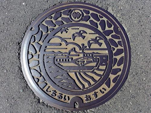 Shichirui Mihonoseki Shimane, manhole cover (島根県美保関町七類のマンホール)