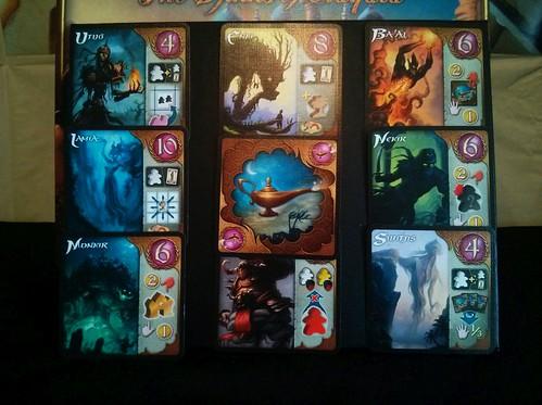 021 Five Tribes Djinn Cards Close Up