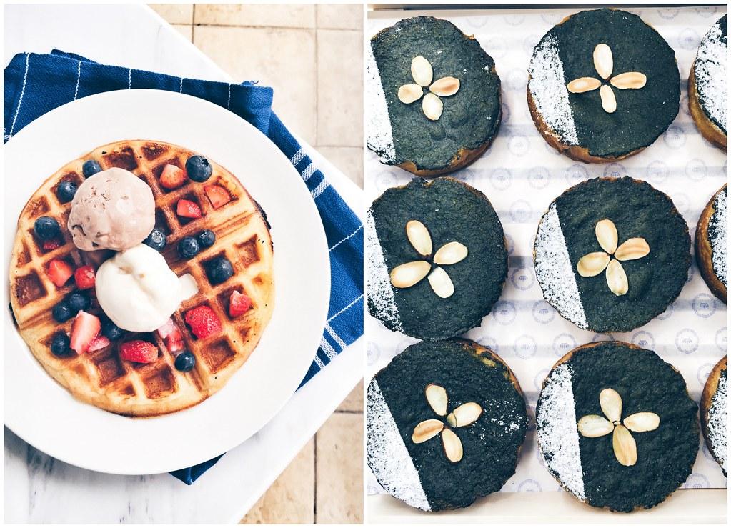 Crown Bakery & Cafe: Sourdough Buttermilk Waffle & Shizuoka Matcha Brioche