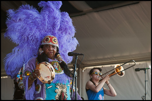 Cha Wa at Jazz Fest 2015 day 6. Photo by Ryan Hodgson-Rigsbee rhrphoto.com