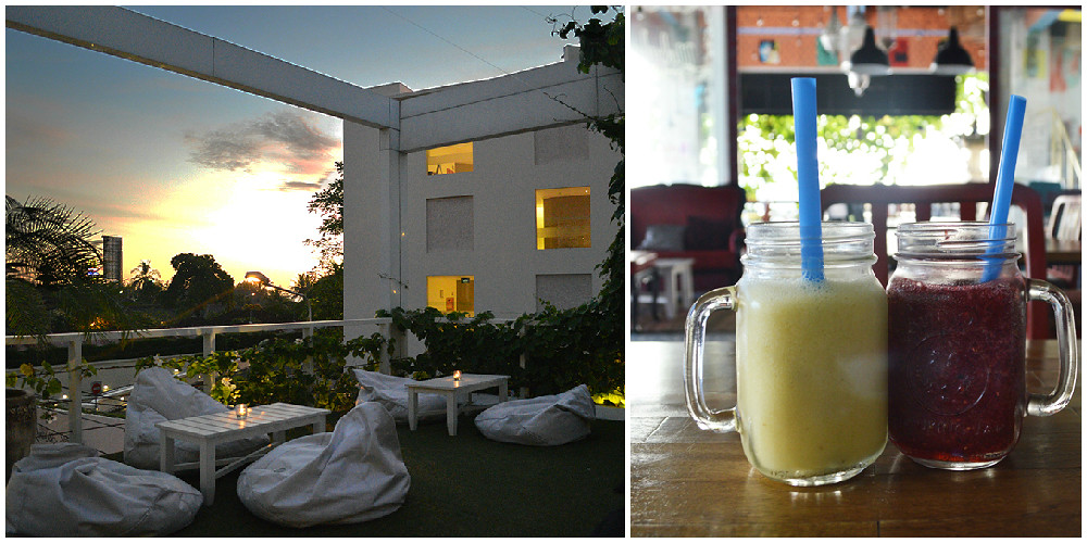 1. Nebula Room - Upperdeck at sunset and juice collage