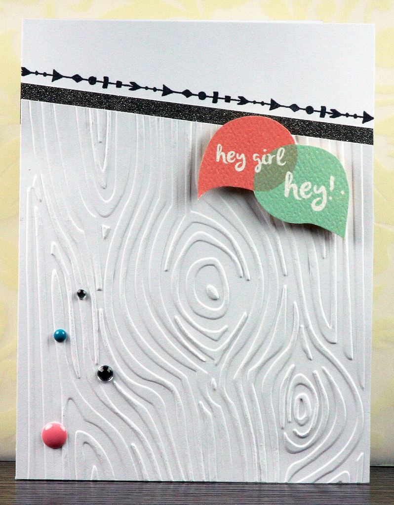 Retro Sketches 161 White-on-White Conversation Bubble Card | shirley shirley bo birley Blog