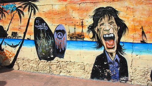 Evil Mick In A Cartoon Mexican Alley Mural