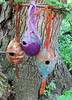 wet felted bird houses