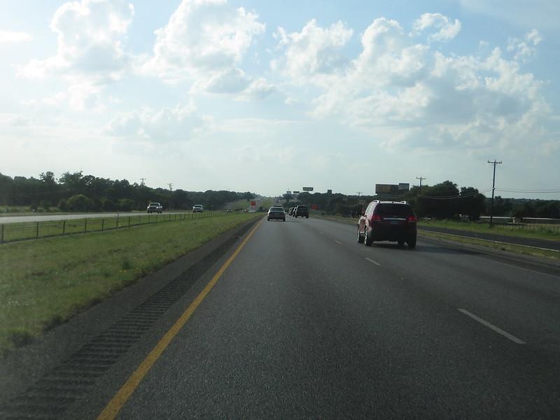 Leaving San Antonio on Interstate 10