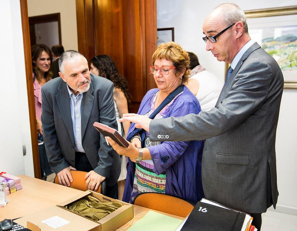 Visita de la Consellera de Treball, Afers socials i Famílies de la Generalitat de Catalunya, la Sra. Dolors Bassa a la Residència Inglada Via.
