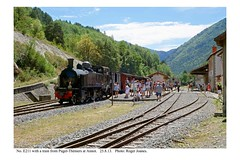 Annot. E211 & train from Puget Théniers. 25.8.13 - Photo of Vergons