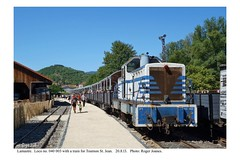 Lamastre. Loco 040 003 & train for Tournon St. Jean. 20.8.13