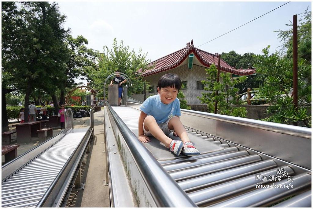 台南景點推薦【佳福寺】佳里親子旅遊40公尺滾輪溜滑梯