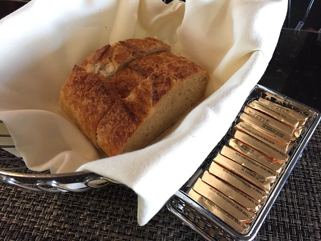 Sourdough bread and butter - Fog Harbor Fish House