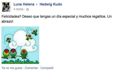 Felicitación cumple Facebook