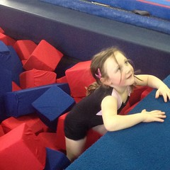 Teagan had fun too. #gymnast  #fun