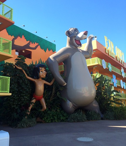 Orlando - Disney World - Disney's Pop Century Resort - Giant Mowgli & Baloo from The Jungle Book