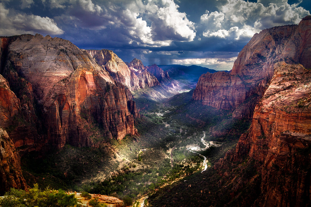 Zion Canyon This Is The View Of Zion National Park From