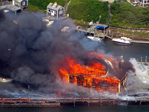Boat House Fire in Menemsha, Mass.  100712-G-XXXX-001