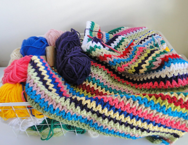 v-stitch stash busting blanket