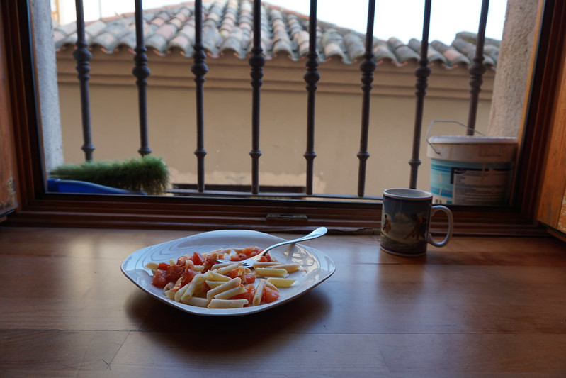 lunch on the almost-balcony
