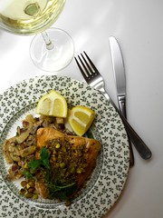 Dukkah-spiced salmon