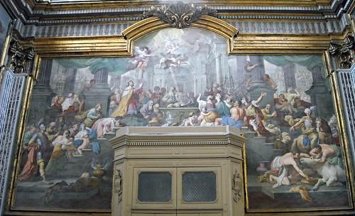 """""""The Salomon's temple dedication"""" - fresco (1737) by Santolo Cirillo - San Paolo Maggiore Church in Naples"""