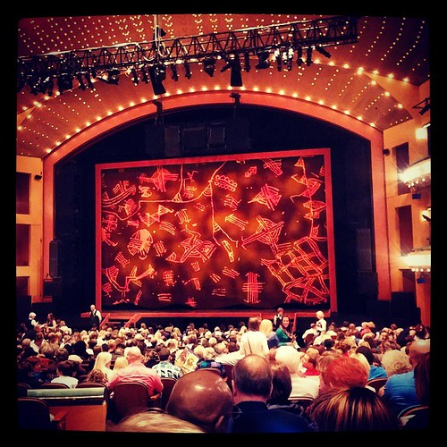 The view from our seats for The Lion King...