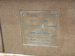 Photo of George Eliot bronze plaque