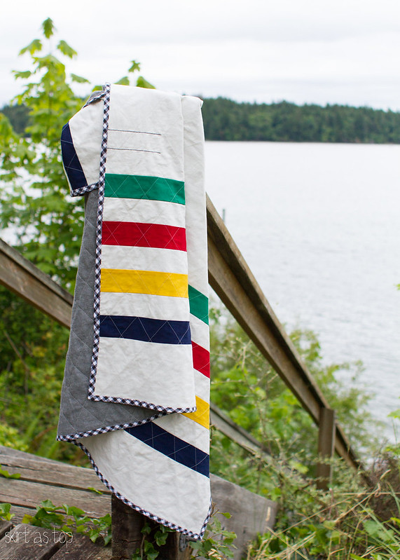 hudson bay point quilt tutorial // skirt as top