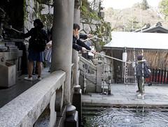 Chozubachi Clensing at the Japanese Buddhist Shrine