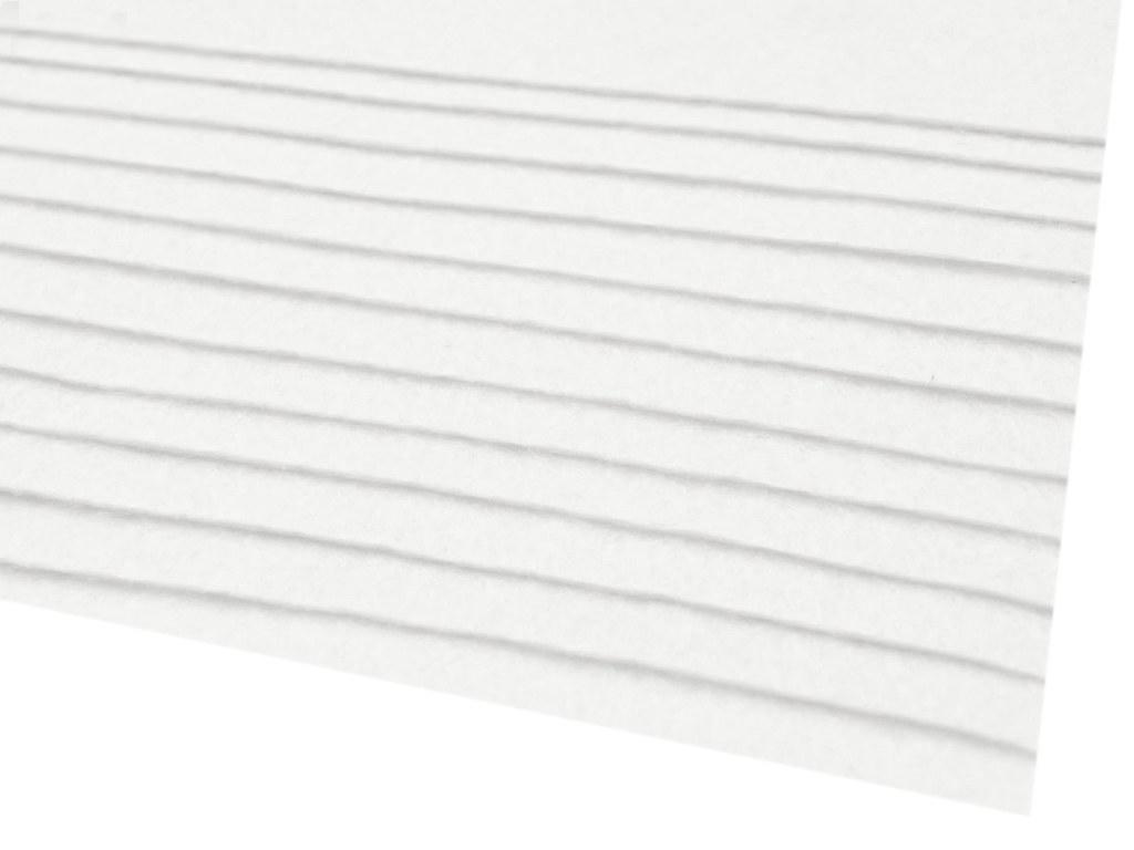 Filz (Stärke 2 - 3mm) weiß, VE: 12 Bögen