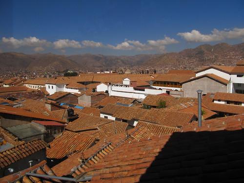 Cusco: vue de notre hôtel