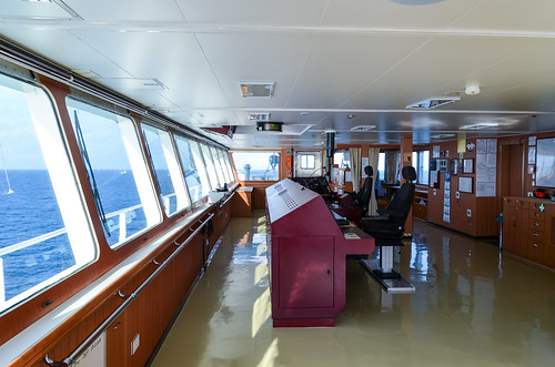 Inside the ship bridge