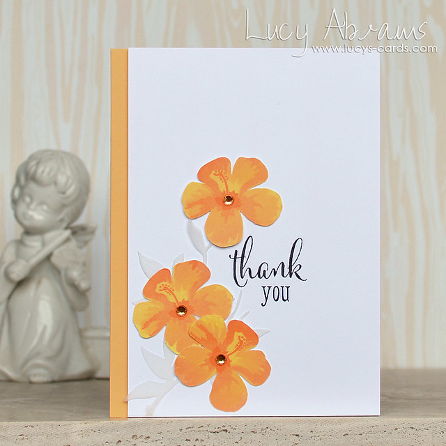 Colour Layering Thank You Card by Lucy Abrams