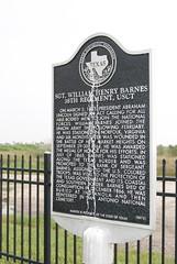Photo of William H. Barnes black plaque