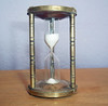 Vintage Brass Egg Timer Hourglass - Three-Minute Timer