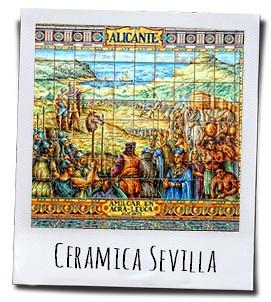 Tableau van Alicante op de Plaza de España in Sevilla