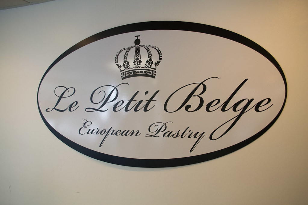 Sign for Le Petit Belge