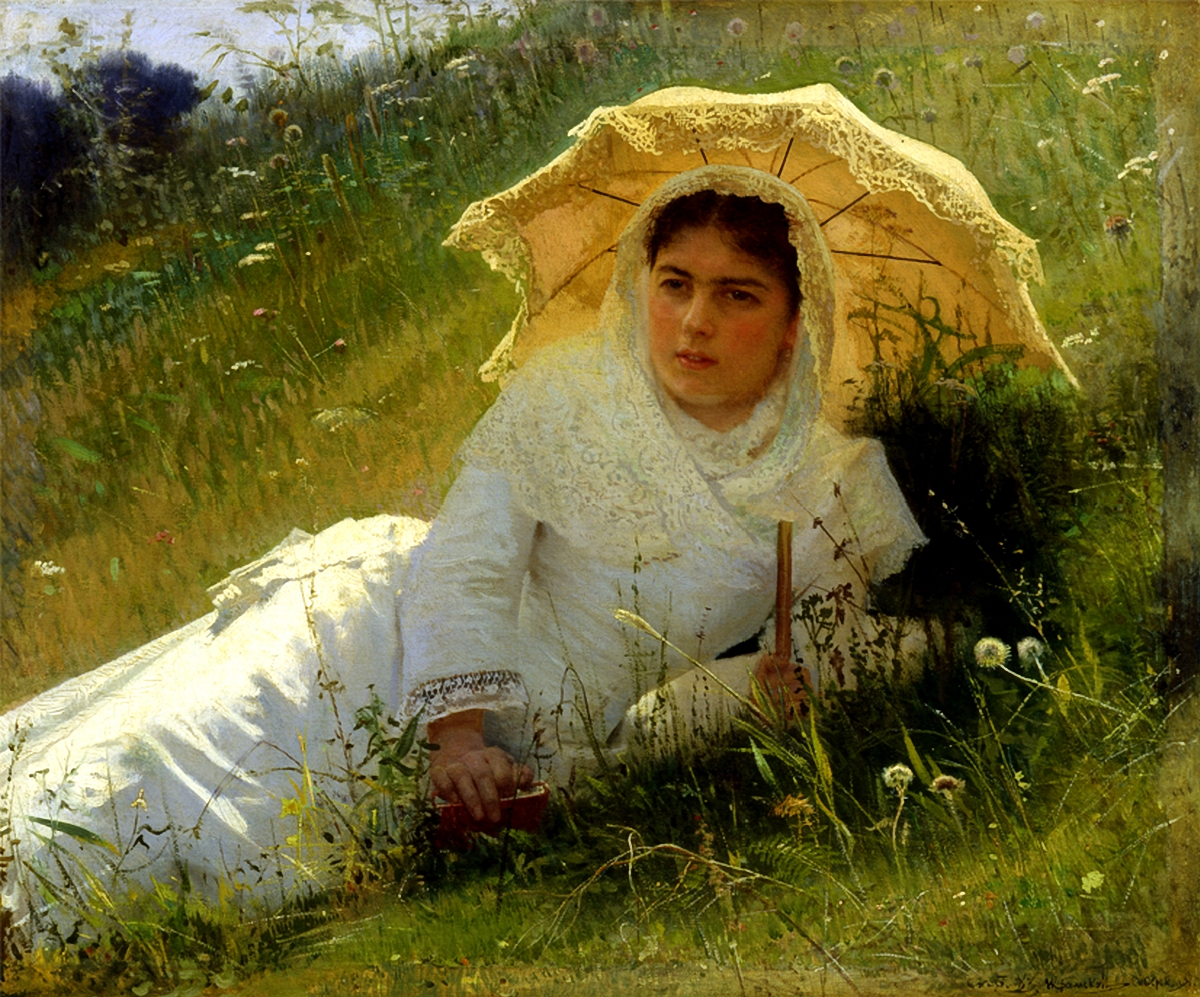 Woman with Parasol by Ivan Nikolaevich Kramskoi, 1883