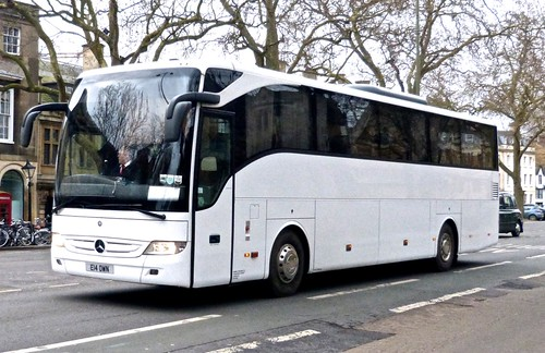 E14 OWN 'Owen Coaches' Mercedes-Benz Tourismo. on 'Dennis Basford's railsroadsrunways.blogspot.co.uk'