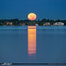 Sewall Point Moonset Over Stuart Waterway by Captain Kimo